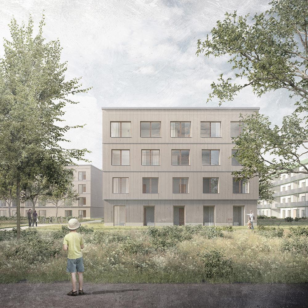 Scharnhorst Quartier Bremen, Holzbau, Hope Architekten Hamburg, Wohnungsbau